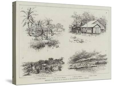 Sketches in Burmah-Amedee Forestier-Stretched Canvas Print