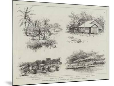 Sketches in Burmah-Amedee Forestier-Mounted Giclee Print