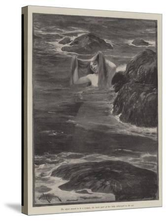 The Mermaid of Lighthouse Point-Amedee Forestier-Stretched Canvas Print