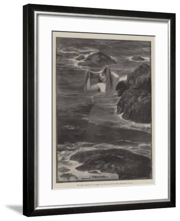 The Mermaid of Lighthouse Point-Amedee Forestier-Framed Giclee Print