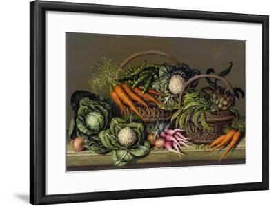 Basket of Vegetables and Radishes, 1995-Amelia Kleiser-Framed Giclee Print