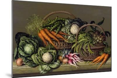 Basket of Vegetables and Radishes, 1995-Amelia Kleiser-Mounted Giclee Print