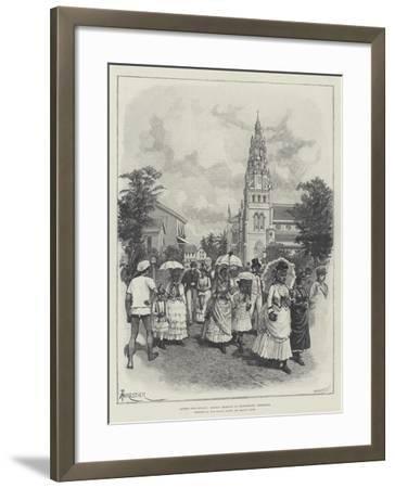 Across Two Oceans, Sunday Morning in Georgetown, Demerara-Amedee Forestier-Framed Giclee Print