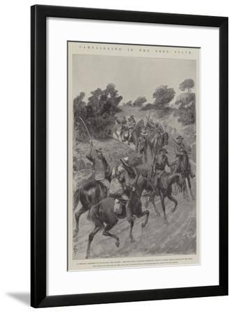 Campaigning in the Free State-Amedee Forestier-Framed Giclee Print