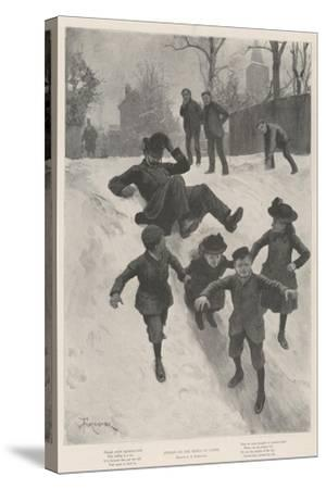 Justice on the Heels of Crime-Amedee Forestier-Stretched Canvas Print