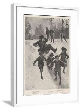 Justice on the Heels of Crime-Amedee Forestier-Framed Giclee Print