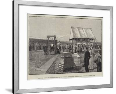 The Queen Laying the Foundation-Stone of the Statue of Prince Albert (Women's Jubilee Offering) in -Amedee Forestier-Framed Giclee Print