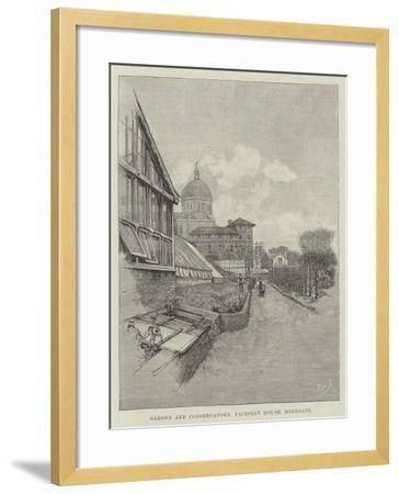 Garden and Conservatory, Fairseat House, Highgate-Amedee Forestier-Framed Giclee Print