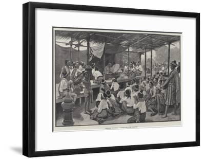 Sketches in Burmah, a Sermon from the Phoongye-Amedee Forestier-Framed Giclee Print