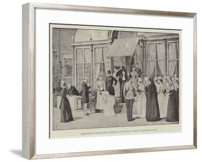 Presentation of Certificates to Nurses by the Princess of Wales at Marlborough House-Amedee Forestier-Framed Giclee Print