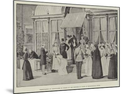 Presentation of Certificates to Nurses by the Princess of Wales at Marlborough House-Amedee Forestier-Mounted Giclee Print