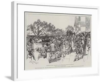 The Queen at Cimiez, Her Majesty's Visit to the Fete Des Congourdons, or Gourd Fair-Amedee Forestier-Framed Giclee Print
