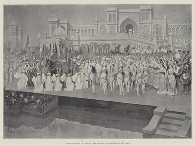 Constantinople in London, the Spectacular Performance at Olympia-Amedee Forestier-Framed Giclee Print