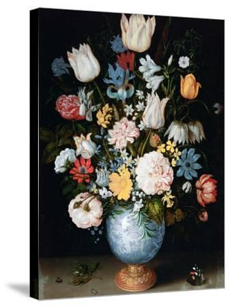 Bouquet of Flowers, 1609-Ambrosius Bosschaert the Elder-Stretched Canvas Print