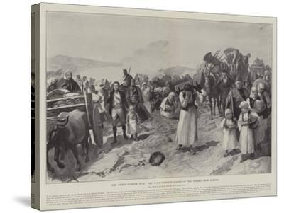 The Graeco-Turkish War, the Panic-Stricken Flight of the Greeks from Larissa-Amedee Forestier-Stretched Canvas Print