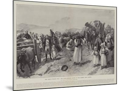 The Graeco-Turkish War, the Panic-Stricken Flight of the Greeks from Larissa-Amedee Forestier-Mounted Giclee Print