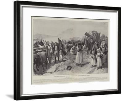 The Graeco-Turkish War, the Panic-Stricken Flight of the Greeks from Larissa-Amedee Forestier-Framed Giclee Print