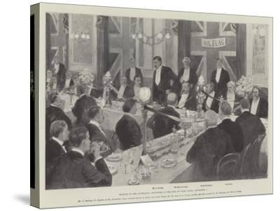 Banquet to the Australian Cricketers at the Inns of Court Hotel, 7 September-Amedee Forestier-Stretched Canvas Print