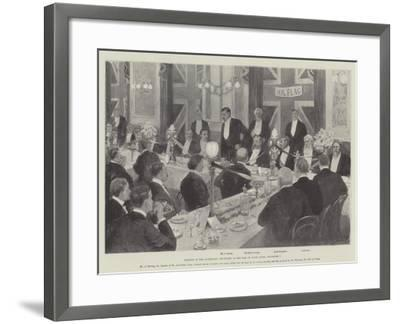 Banquet to the Australian Cricketers at the Inns of Court Hotel, 7 September-Amedee Forestier-Framed Giclee Print