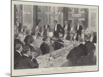 Banquet to the Australian Cricketers at the Inns of Court Hotel, 7 September-Amedee Forestier-Mounted Giclee Print