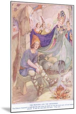 The Princess and the Swineherd-Anne Anderson-Mounted Giclee Print