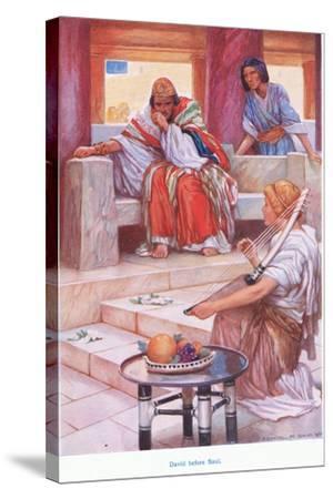 David before Saul-Arthur A^ Dixon-Stretched Canvas Print