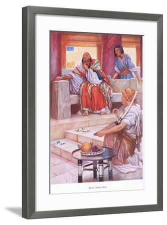 David before Saul-Arthur A^ Dixon-Framed Giclee Print