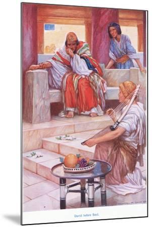 David before Saul-Arthur A^ Dixon-Mounted Giclee Print