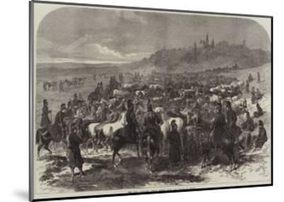 The War, Captured French Horses after the Battle of Sedan-Arthur Hopkins-Mounted Giclee Print