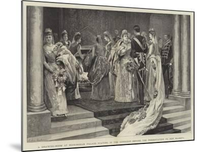 A Drawing-Room at Buckingham Palace, Waiting in the Corridor before the Presentation to Her Majesty-Arthur Hopkins-Mounted Giclee Print