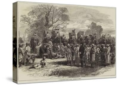 A Tiger-Hunting Party in India, Preparing to Start-Arthur Hopkins-Stretched Canvas Print