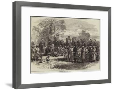 A Tiger-Hunting Party in India, Preparing to Start-Arthur Hopkins-Framed Giclee Print
