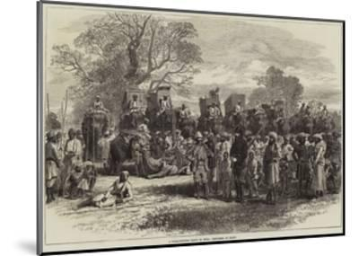 A Tiger-Hunting Party in India, Preparing to Start-Arthur Hopkins-Mounted Giclee Print