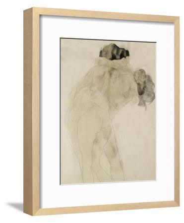 Two Embracing Figures-Auguste Rodin-Framed Premium Giclee Print