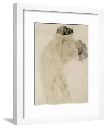 Two Embracing Figures-Auguste Rodin-Framed Giclee Print