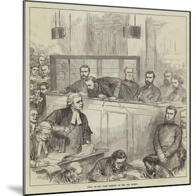 Trial of the Bank Forgers at the Old Bailey-Arthur Hopkins-Mounted Giclee Print