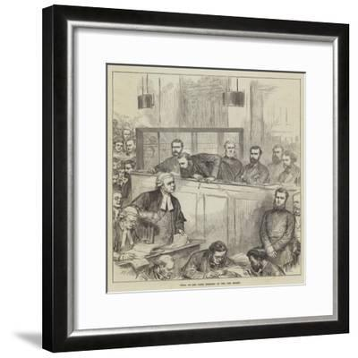 Trial of the Bank Forgers at the Old Bailey-Arthur Hopkins-Framed Giclee Print