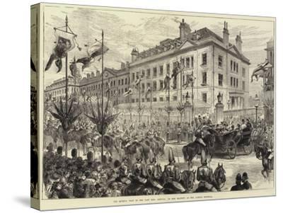 The Queen's Visit to the East End, Arrival of Her Majesty at the London Hospital-Arthur Hopkins-Stretched Canvas Print
