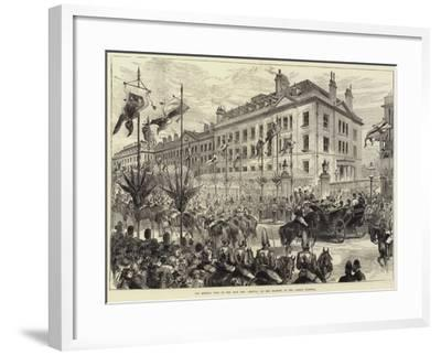 The Queen's Visit to the East End, Arrival of Her Majesty at the London Hospital-Arthur Hopkins-Framed Giclee Print