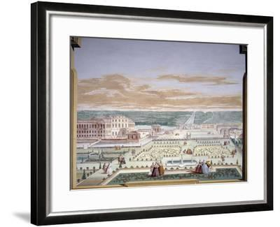 Perspective Drawing of a Villa and Imaginary Garden-Andrea Urbani-Framed Giclee Print