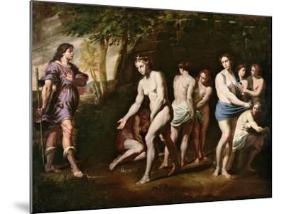 Diana and Her Nymphs Surprised by Actaeon-Andrea Vaccaro-Mounted Giclee Print