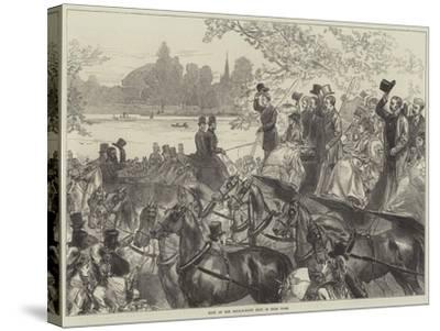 Meet of the Four-In-Hand Club in Hyde Park-Arthur Hopkins-Stretched Canvas Print