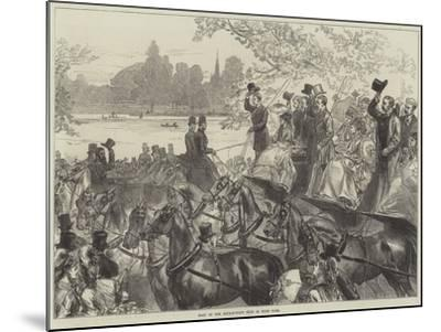 Meet of the Four-In-Hand Club in Hyde Park-Arthur Hopkins-Mounted Giclee Print