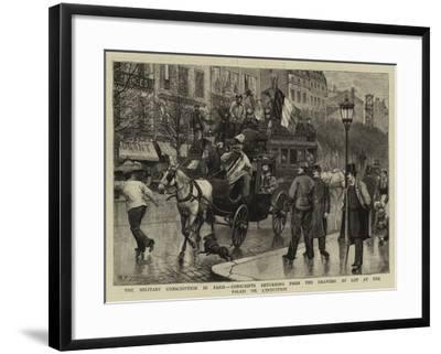 The Military Conscription in Paris-Antonio the Elder Gonzalez Velazquez-Framed Giclee Print