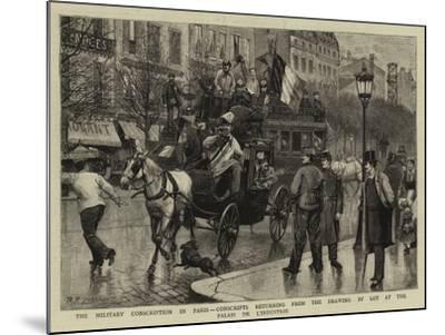 The Military Conscription in Paris-Antonio the Elder Gonzalez Velazquez-Mounted Giclee Print