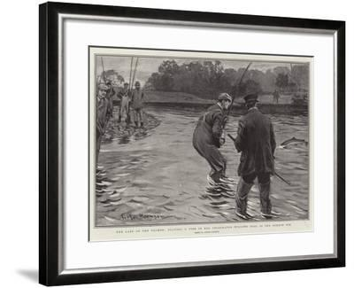 The Last of the Salmon, Playing a Fish in the Celebrated Willows Pool in the Border Esk-Arthur Rackham-Framed Giclee Print
