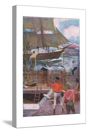 We Gave Three Long Loud Cheers-Arthur Rackham-Stretched Canvas Print