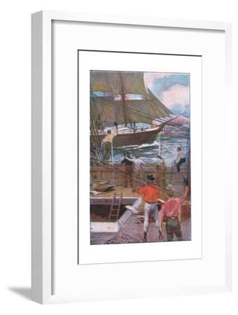 We Gave Three Long Loud Cheers-Arthur Rackham-Framed Premium Giclee Print