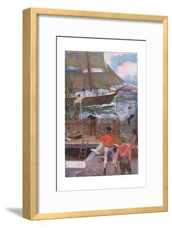We Gave Three Long Loud Cheers-Arthur Rackham-Framed Giclee Print