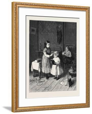 Awarding Prizes the Successful Competitor, in the Exhibition at the French Gallery 1869-Andre Henri Dargelas-Framed Giclee Print